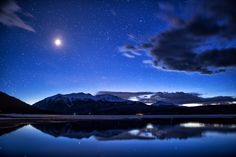 Twin Lakes Moonset by Lars Leber Photography Twin Lakes Colorado, Healing Images, Star Sky, Great Shots, Milky Way, Planet Earth, Beautiful World, Northern Lights, Places To Visit