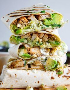 Chicken and Avocado Burritos | Wrap N' Roll With These 15 Phenomenal Burrito Recipes, check it out at http://homemaderecipes.com/15-burrito-recipes/