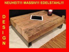 Massiv! 60Jahre altes Holz! Wohnzimmertisch INOX von Massiv-holz-tisch ...