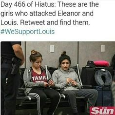 These girls are nuts because I heard it will effect Louis in court
