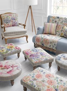 Voyage Maison craft beautiful designer fabrics, wallpapers and home accessories for your living room, kitchen, bedroom and bathroom. Voyage Fabric, Living Room Decor, Bedroom Decor, Transitional Home Decor, Living Room Inspiration, Upholstered Chairs, Soft Furnishings, Home Accessories, Ottoman