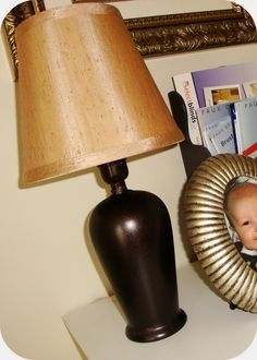 Oil Rubbed Bronze spray paint by Rustoleum -  Transforms a thrift store lamp - The Penny Parlor