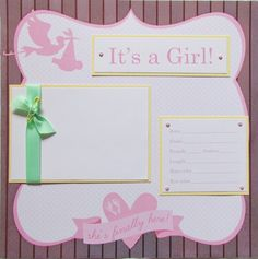 20 BABY GIRL Scrapbook Pages for 12x12 FiRsT YeAr ALbUm -- preppy and fun in pink yellow and green--. $138.00, via Etsy.