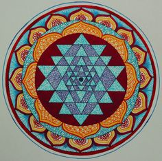 Sri Yantra, the all rounded complete perfection in the ethereal universe.