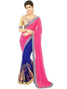 Sarees Online: Shop the latest Indian Sarees at the best price online shopping. From classic to contemporary, daily wear to party wear saree, Cbazaar has saree for every occasion. Latest Indian Saree, Indian Sarees Online, Buy Sarees Online, Party Wear Sarees Online, Georgette Fabric, Sherwani, Half Saree, Churidar, Online Clothing Stores