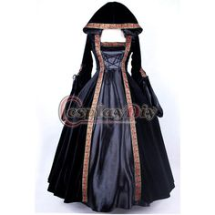 Medieval gothic punk vestido de baile em renascimento ou vitoriana... ❤ liked on Polyvore featuring dresses