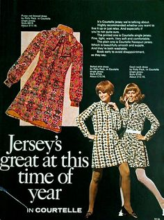 SWEET JANE: Dresses by Polly Peck 1969