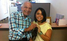 Coach Bianca Negron con Avelino Muñoz