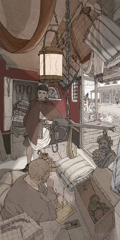 Kelvin Wilson - Interior of a shop on the Roman frontier
