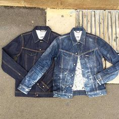 denim trucker jacket, old vs new