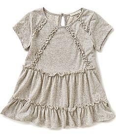 Copper Key Big Girls 716 VNeck Ruffle Slub Knit ShortSleeve Top #Dillards