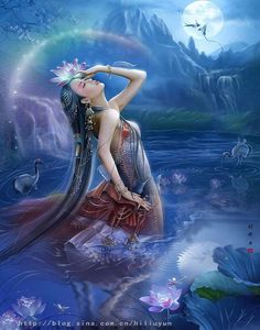 """Mazu - Chinese Sea Goddess    Mazu (literally """"Mother Ancestor""""), also spelt…"""