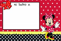 Todo para una fiesta con tema de ... ¿Minnie? ¿Mimí? ¡Como le digas! | Tips de Madre® Mickey Y Minnie, Disney Mickey Mouse, Free Printable Birthday Invitations, Baby Birthday, Party, Kids, Baptism Ideas, Project Life, Cnc