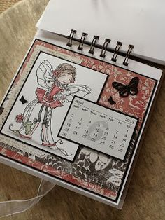 Calendar, maybe use envelopes and store card fronts. Flip Calendar, Paper Cards, Diy Cards, Personalised Calendar, Calendar Activities, Post It Note Holders, Craft Packaging, Craft Show Ideas, Altered Books