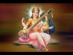 Saraswati (सरस्वती) is the Hindu goddess of knowledge, music, arts and science. She is the companion of Brahma, also revered as his Shakti (power). Indiana, Shri Mataji, Devotional Songs, Indian Art Paintings, Hindu Deities, Morning Prayers, Occult, Pagan, Musica