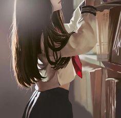 Ideas for art drawings girl manga anime beautiful Kawaii Anime Girl, Manga Kawaii, Pretty Anime Girl, Chica Anime Manga, Beautiful Anime Girl, Anime Art Girl, Anime Love, Anime Girls, Anime School Girl