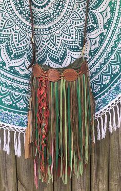 Handmade Nature Colors Suede Leather Fringe Bag Hippie Boho Unique Purse B.Joy | Clothing, Shoes & Accessories, Women's Handbags & Bags, Handbags & Purses | eBay!