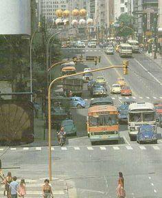 Av Sao Joao na decada de 80. Sentido Centro // Ônibus antigos de São Paulo, Baixada e interior - Page 2 - SkyscraperCity