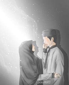 kumpulan kartun romantis parf 3 - my ely Love Cartoon Couple, Cute Couple Art, Anime Love Couple, Cute Love Cartoons, Cute Muslim Couples, Muslim Girls, Cute Couples, Cover Wattpad, Muslim Couple Photography
