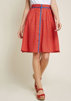 ddc4c05615 Style Identity A-Line Skirt in Cherries Red Personal Stylist, Red Skirts,  Cute