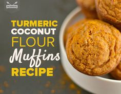 It's just like belly-warming golden milk -- in muffin form! Turmeric coconut muffins