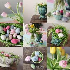 Do It Yourself Easter Decorations..love this look