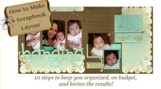 Step By Step Instructions for How to Make a Scrapbook:  Great advice for newbies with helpful tips for expert scrappers.