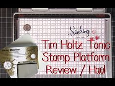 Tim Holtz demos three ways to use his Stamping Platform. Tim Holtz Stamping Platform, Vintage Cigar Box, Crafting Tools, Craft Punches, Stamping Tools, Stamp Pad, Card Making Techniques, Making Tools, Sewing Rooms