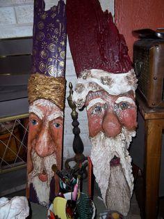 Driftwood Santa's by Denise
