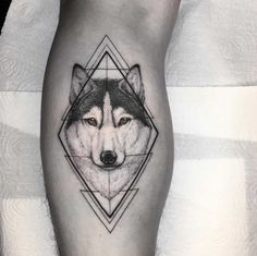 60 Amazing Wolf Tattoos - The Best You'll Ever See - Page 5 of 6 - Straight Blasted Mini Tattoos, Body Art Tattoos, Tattoos For Guys, Cool Tattoos, Geometric Tattoo Design, Wolf Tattoo Design, Tattoo Designs, Wolf Tattoo Sleeve, Sleeve Tattoos