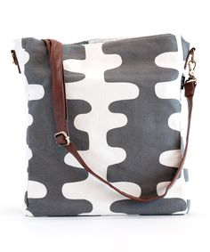 Charcoal Echo Sling Crossbody Bag