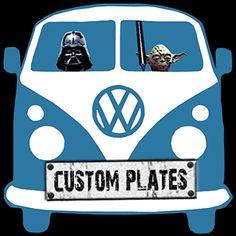 VW Kombi Van Star Wars Custom Plates T-Shirt New Gift | T-Shirts | Men's Clothing - Zeppy.io
