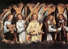 Hans Memling (1435-1494) Angel Musicians Angels making music