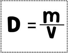 Density Formula Activity