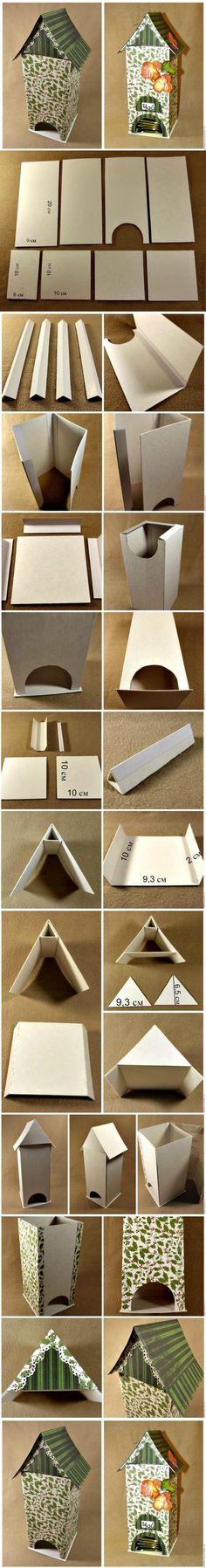 diy, cardboard, tea, bag, dispenser