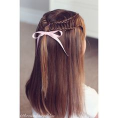 Little girl hairstyle ~ Dutch Feathered Braid into Regular Braid.