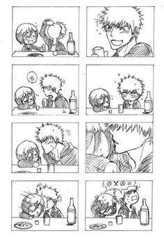 Bleach - IchiRuki almost drunk kiss