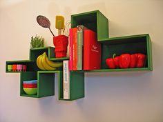 fantastic kitchen shelves