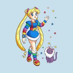 Shop Rainbow Moon II rainbow brite t-shirts designed by Ellador as well as other rainbow brite merchandise at TeePublic. Moon Rainbow, Rainbow Brite, Manga Comics, Cartoon Movies, Girl Cartoon, Manga Anime, Sailor Moon Kristall, Princesa Serenity, Sailor Moon Fan Art