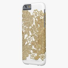 Cute iPhone 6 Case! This Artandra Gold Lace iPhone 6 case iPhone 6 Case can be personalized or purchased as is to protect your iPhone 6 in Style!