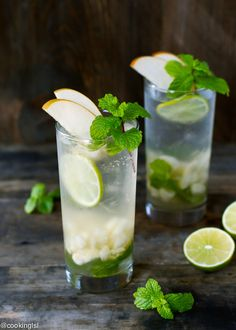 Asian Pear Mojito Recipe - made with crunchy Asian pears and honey simple syrup.