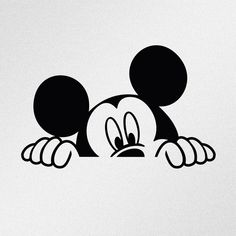Sticker made of high quality Oracal vinyl. This is die cut sticker, it's not printed and has no background. Arte Do Mickey Mouse, Mickey Mouse Drawings, Mickey Mouse Tattoos, Minnie Mouse 1st Birthday, Disney Drawings, Disney Mickey Mouse, Mickey Drawing, Mickey Mouse Stickers, Baby Tattoos
