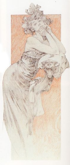 Study for Figures Decoratives, 1905  Alphonse Mucha