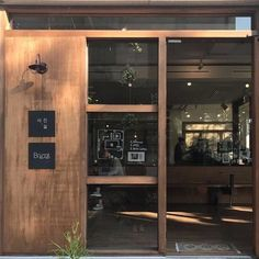 Interior Design For Bathroom Cafe Shop Design, Cafe Interior Design, Facade Design, Door Design, Cafe Restaurant, Restaurant Design, Coffee Shop Aesthetic, Cafe Display, Store Fronts