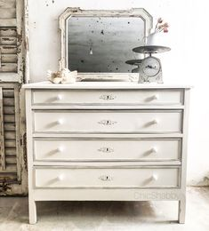 Settimino shabby chic antique Chest of drawers shabby chic | Le ...