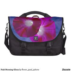 Pink Morning Glory laptop Bag