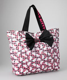 Take a look at this Gingham Ombré Hello Kitty Tote by Hello Kitty on #zulily today!