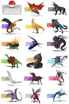 Prehistoric versions of Pokemon! So cool!