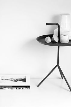 Via MyDubio | HAY Don't Leave Me Side Table | Black and White