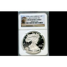 2nd Lowest Proof 2012-S Silver Eagle Proof Trolley Label PF69UC/NGC